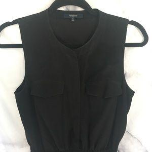 Madewell Dresses - Madewell Silk Journey Shirtdress in Black
